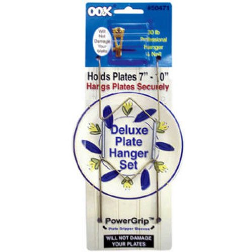 OOK 50471 Deluxe Plate Hanger with Steel Pro Supports Up to 30 Pounds, 7-Inch to 10-Inch