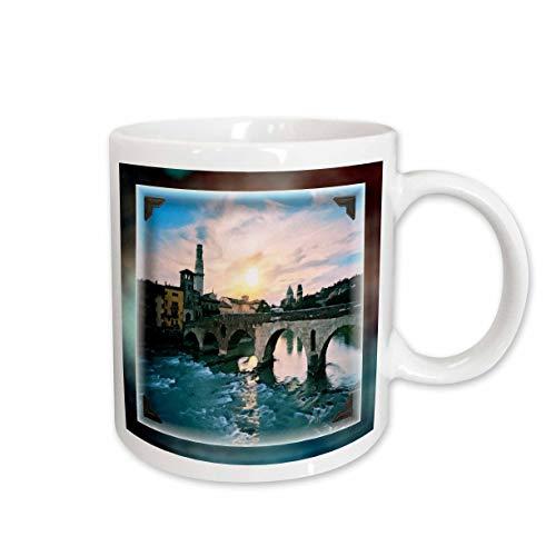 3dRose Bridge at Verona Ceramic Mug, 15-Ounce