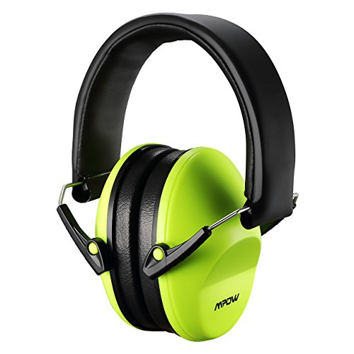 Mpow 068 Kids Ear Protection Safety Ear Muffs, NRR 25dB Professional Noise Reduction Shooter Hearing Protection, Ear Defenders for Shooting Range Hunting Season for Children, Toddler, Women (Green)