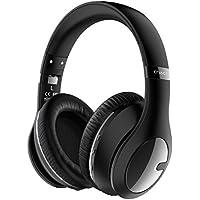 [Patrocinado] criacr auricular bluetooth inalámbrico, plegable auriculares ligeros, doble cara over Ear Auriculares con Hi-Fi estéreo, 3.5mm Audio Jack, micrófono integrado, para teléfono celular, Tablet, Tv, PC