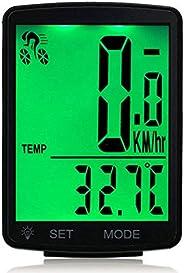 Lurowo Bicycle Speedometer with LCD Display Wireless MTB Bike Cycle Computer Odometer Rainproof Cycling Speed