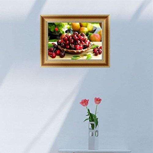 SCASTOE DIY 5D Diamond Embroidery Cherries Painting Cross Stitch Craft Home Decor