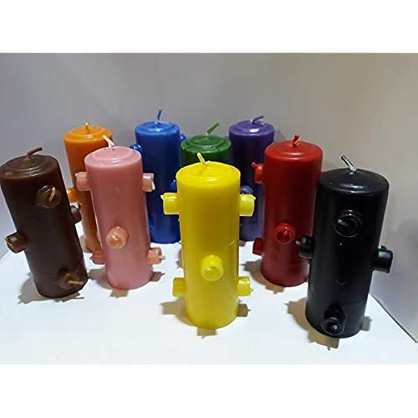 Lcl Velas Velon 7 Mechas Color Marron Amazon Es Hogar