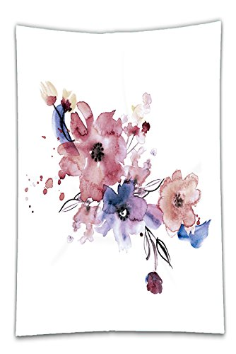 Nalahome Fleece Throw Blanket cute watercolor hand painted flowers invitation wedding card birthday card - Hand Wedding Invitations Painted