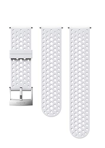 Suunto Watch Strap, 24mm, Silicone, White Steel- Athletic, S+M: 120-230 mm