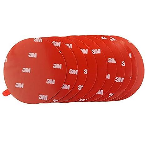 Cinta adhesiva de 3 M de doble cara extrafuerte. Para coches, espejos, cinta adhesiva, puntas adhesivas redondas. Diámetro 80 mm 10 unidades.