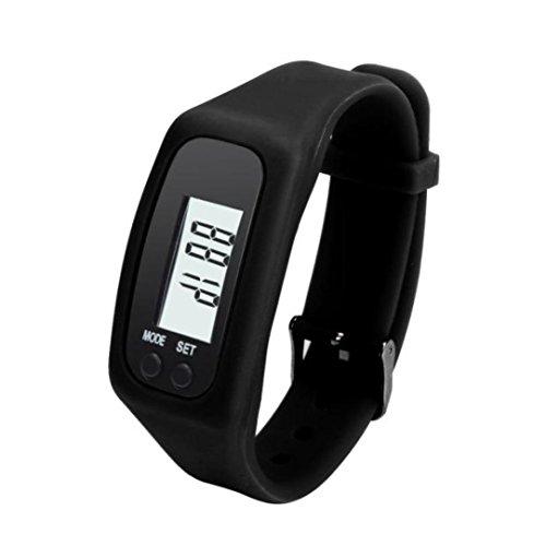 Womans Watch,Digital LCD Pedometer Run Step Walking Distance
