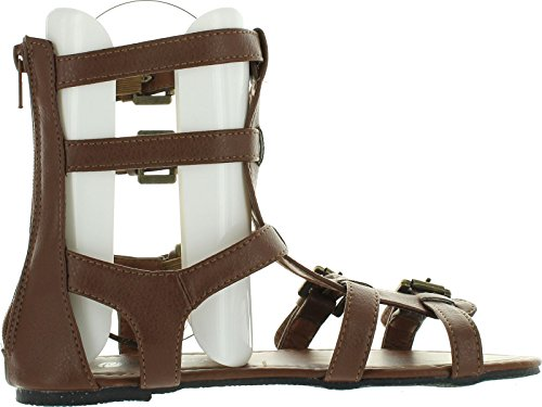 Chatties Da Donna 10 Sandali Gladiatore Con Cinturini Multi Fibbia Cognac 6405