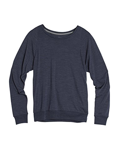 Icebreaker Women's Sphere Long Sleeve Sweater, Medium, Panther HTHR