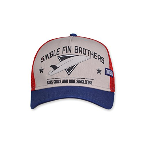 Trucker COASTAL white Fin Brothers High Fitted Single Cap q6Y65F