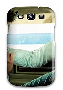 Snap-on Case Designed For Galaxy S3- A Boy In White In A White Car