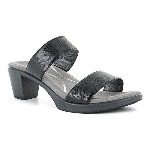 NAOT Women's Fate Sandals, Black Leather, Polyurethane, Cork, Latex, Suede, Metal, 40 M EU, 9-9.5 M