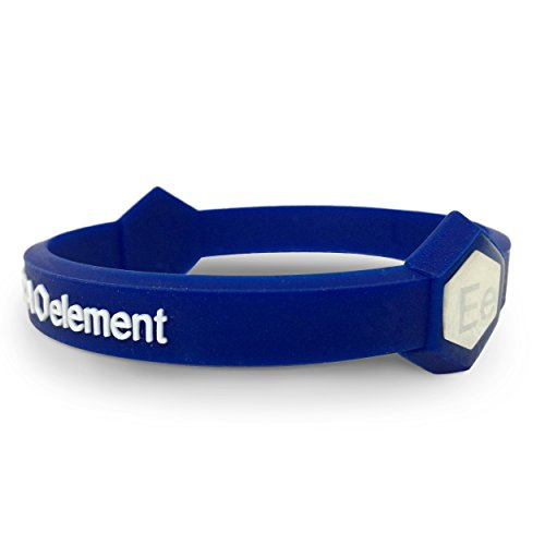 Extra Element Performance Wristband: Power, Balance, Sport, Silicone Rubber Band, for Men or Women (BLUE) Small (Performance Wristband)