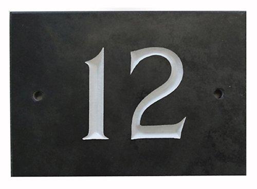 Black Slate House Number 1-99 (Number 12)