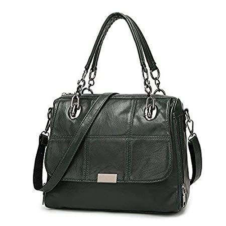 b115ef0bfd31 Women Leather Handbags Designer Top-Handle Bags Girls Shoulder Crossbody Messenger  Bags for Girls - Green  Amazon.co.uk  Luggage