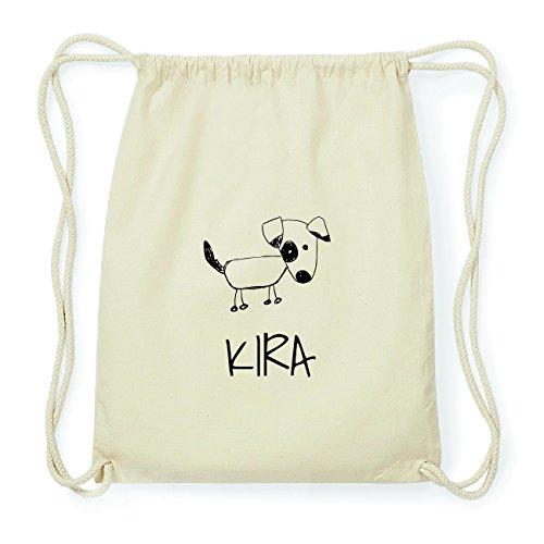 JOllipets KIRA Hipster Turnbeutel Tasche Rucksack aus Baumwolle Design: Hund 5OY249MJP