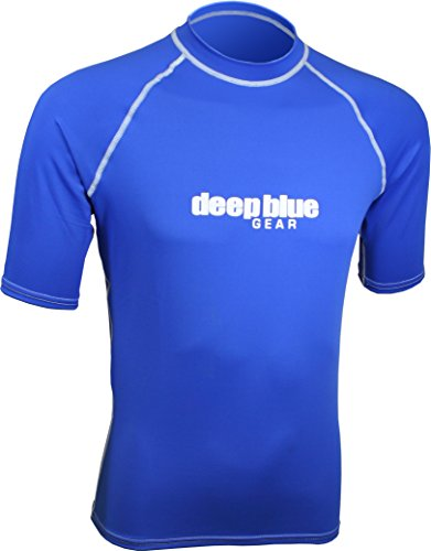 Deep Blue Gear Men's Short Sleeve Rashguard, X-Large, Blue (Guard Pro Short Sleeve Rash)