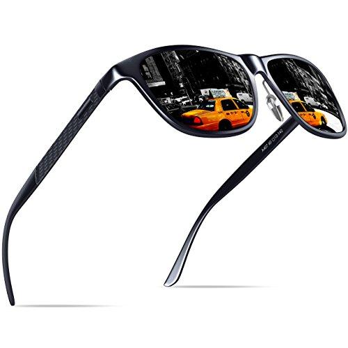 KITHDIA Mens Driving Polarized Wayfarer Sunglasses Al-Mg Metal Frame Ultra Light #407 by KITHDIA (Image #1)