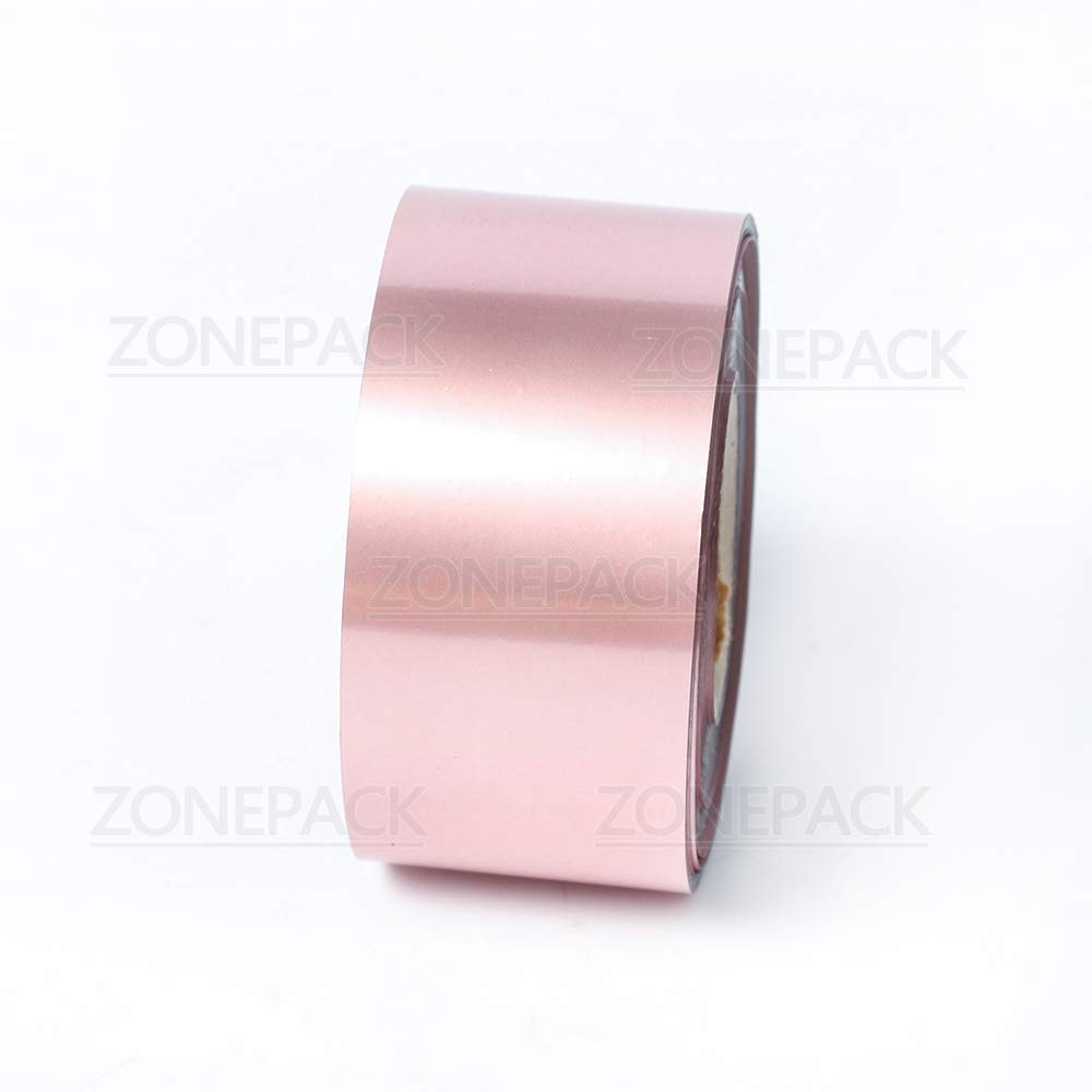 ZONEPACK 2pcs//lot 5cm 1.96 Many Kinds of Color hot foil Stamp Paper Colorful Gold and Silver for Leather Paper and PVC Cards 2 Rolls 5cm Rose Gold