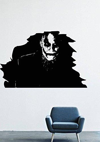 [Wall Decals Decor Viny Batman Costume Mask Costume Man Super-Villain Joker What is Serious GMO0540] (Easy Male Villain Costumes)
