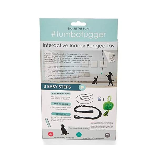 Tumbo Indoor Tugger with Plush Ball , 1 Count Click on image for further info. 3