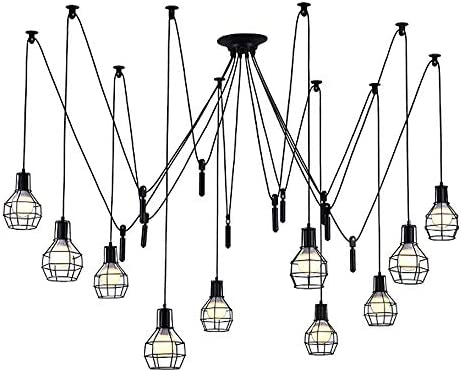 Aiwen Rise and Fall Pulley Rustic Chandeliers Not Include Light Source 15 Lamp Holder