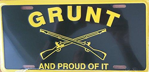 GRUNT Premium Embossed License Plate (LP-1109-154)
