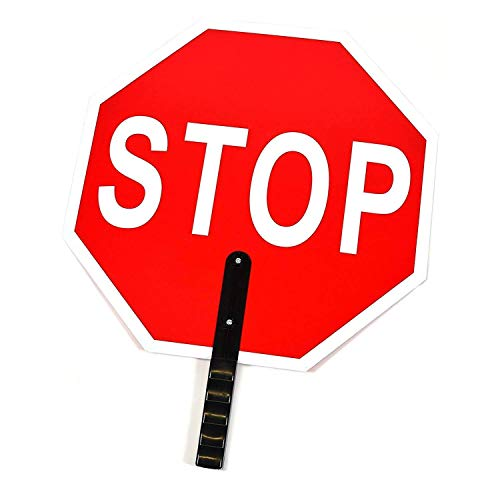 Troy Safety STSL18 Stop/Slow Paddle Sign, 18