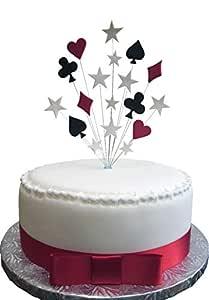Karens Cake Toppers Poker Casino Cuna Playing Card Pastel ...