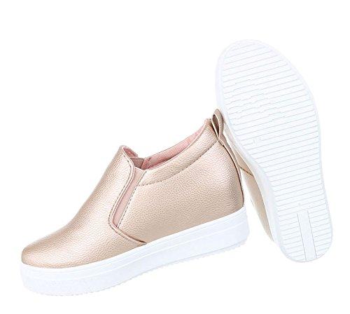 Damen Stiefelette   Stiefeletten Plateau Wedges   Keilabsatz Schuhe   Wedge Ankle Booties   Weiße Profilsohle   Schnürstiefelette   Schuhcity24 Modell Nr1 Rosa