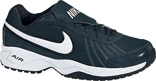 Nike Unisex Air Diamond Trainer Black/White/Silver Sneaker Men's 12, Women's 13.5 Medium