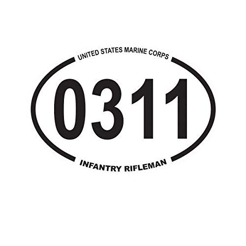 ION Graphics Magnet United States Marine Corps MOS 0311 Infantry Rifleman Oval Magnetic Vinyl USMC Semper 5
