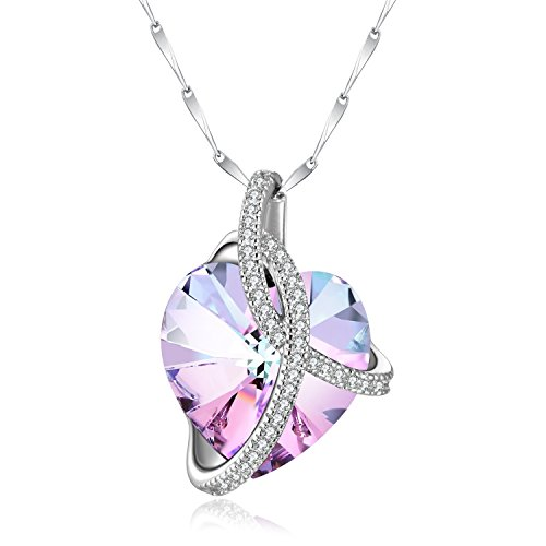 Birthstone Heart Necklace - 4