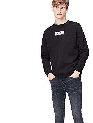 Homme Noir Find black Tokyo Sweat shirt Print 002 IwqqZBS7x