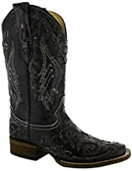 Corral Womens A2404 Snake Inlay Brown Fashion Western Cowboy Boots