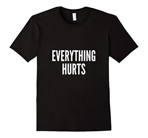 Men's Everything Hurts T-Shirt Large Black
