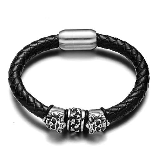 (JEWLUXURY Men Viking Necklace Stainless Steel Norse Viking Runes Sun Amulet Gothic Biker Pendant Necklace)