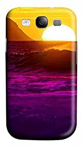 3D PC Case Cover for Samsung Galaxy S3 I9300 Custom Hard Shell Skin for Samsung Galaxy S3 I9300 With Nature Image- the rosy clouds