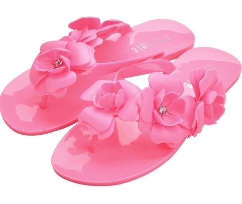 de en Tongs littéraire Trois la 40 Dimensions Femmes Rose Camellia Rouge 40 Mode Danapp Flops Vert Flip 5gnHqIwBx