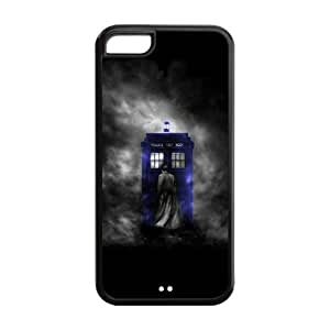 Mystic Zone Custom Doctor Who Back Cover Case for Apple iPhone 5C -(Black and White) - MZ5C01076