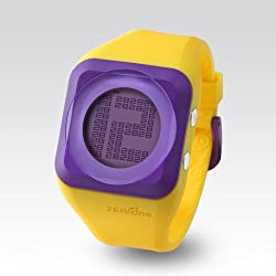 Zerone HD Yellow Purple Digital Watch