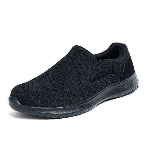 (Bruno Marc Men's Slip On Walking Shoes Mesh Sneakers Walk-Easy-01 Black Size 8.5 M US)