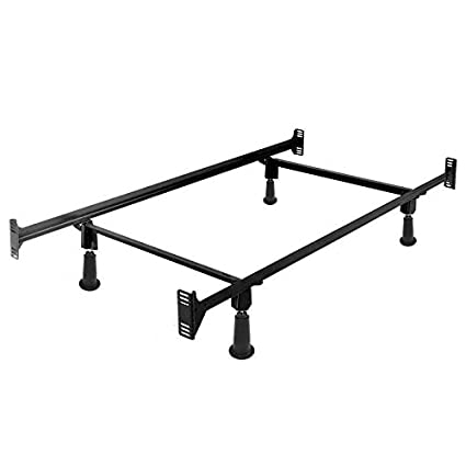 Amazon.com: StarSun Depot Twin Size High Rise Metal Bed Frame with ...