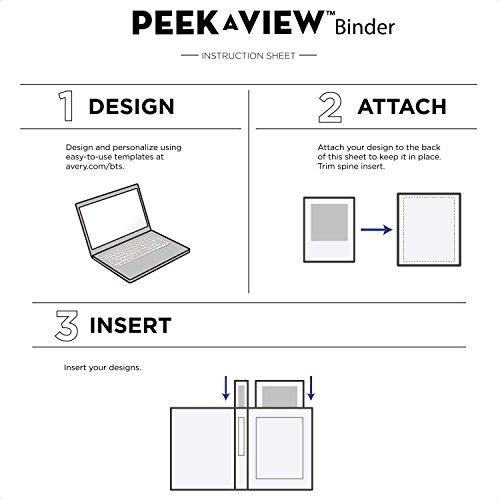 Avery Peek A View Durable Customizable Emoji Binder, 1