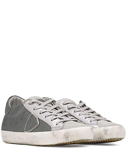 Donna Pelle Sneakers Clldxy33 Model Philippe Argento RqOwzH7C