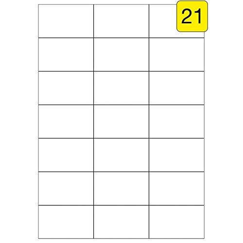 Etiketten 70 x 42,3 mm 200 Blatt 4200 St/ück