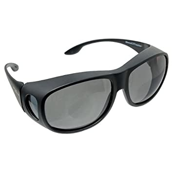 ed12b13018 Image Unavailable. Image not available for. Colour  Solar Shield Fits Over  Sunglasses Gray
