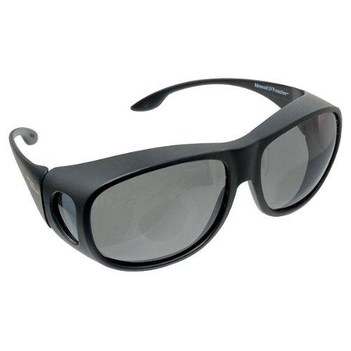 Solar Shield Fits Over Sunglasses Gray