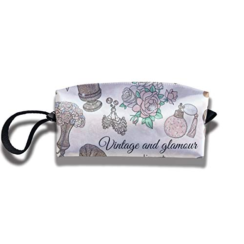 - EElason777 Vintage Clipart Glamour Travel Makeup Cosmetic Pouch Makeup Travel Bag Purse for Women Or Girls