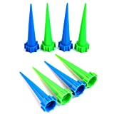 NUOMI Plants Self Watering Spikes Plastic Device Garden Watering Stakes 8 Pack, Bottle Stake with Automatic Vacation Plant Watering System